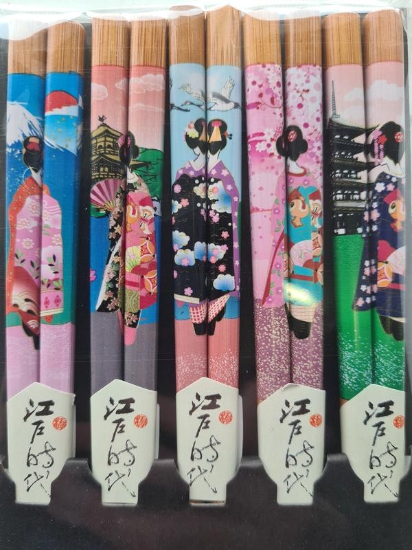 Japanse eetstokjes Geisha detail nieuw