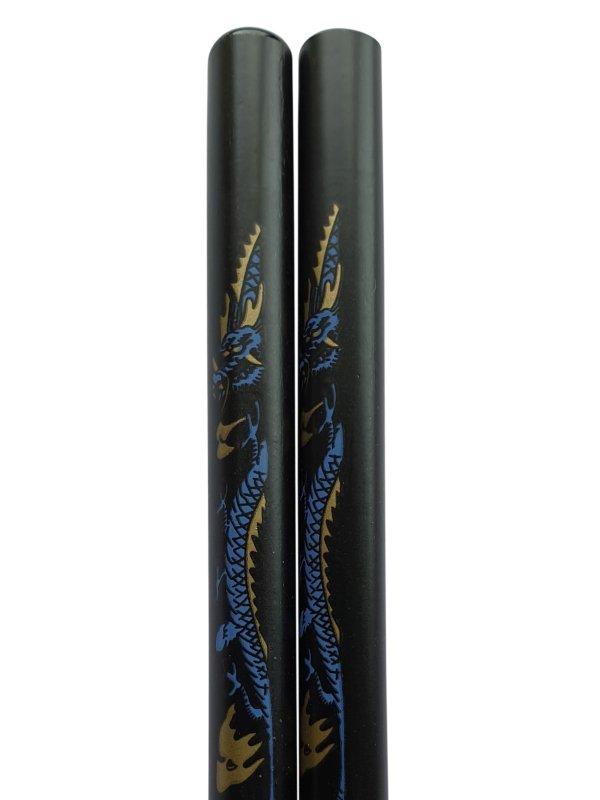 Eetstokjes draak Japanse uitvoering zwart