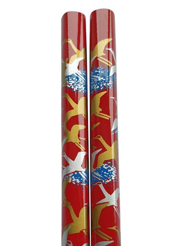 Eetstokjes kraanvogel Japanse uitvoering rood
