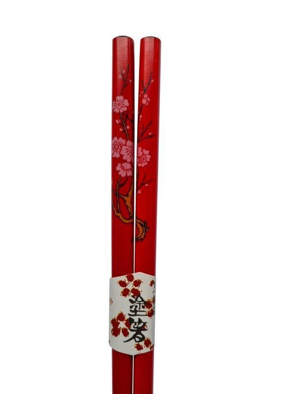 Eetstokjes bloesem Japanse uitvoering rood