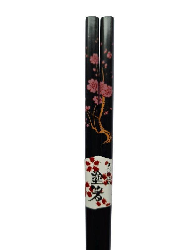 Eetstokjes bloesem Japanse uitvoering zwart