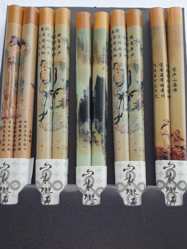 Japanse eetstokjes Landschap detail
