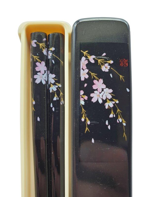 Japanse eetstokjes Kersenbloesem zwart detail