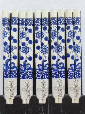 Japanse eetstokjes blauw/wit detail