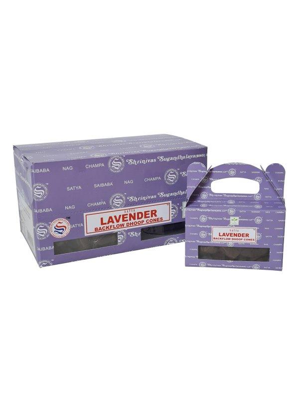 Backflow wierookkegeltjes Satya Lavender per 6