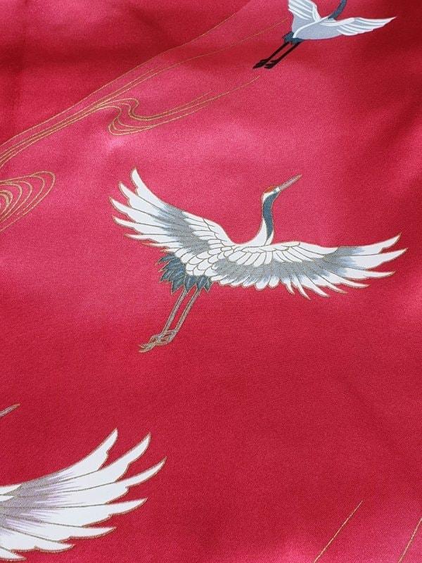 Japanse kimono kraanvogel polyester