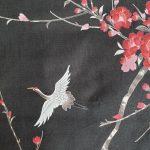 Japanse kimono kersen bloesem katoen zwart