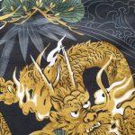 Yukata dragon katoen detail