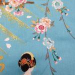 Japanse kimono maiko katoen
