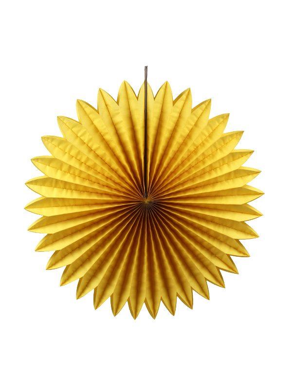 Honingraat Waaier geel