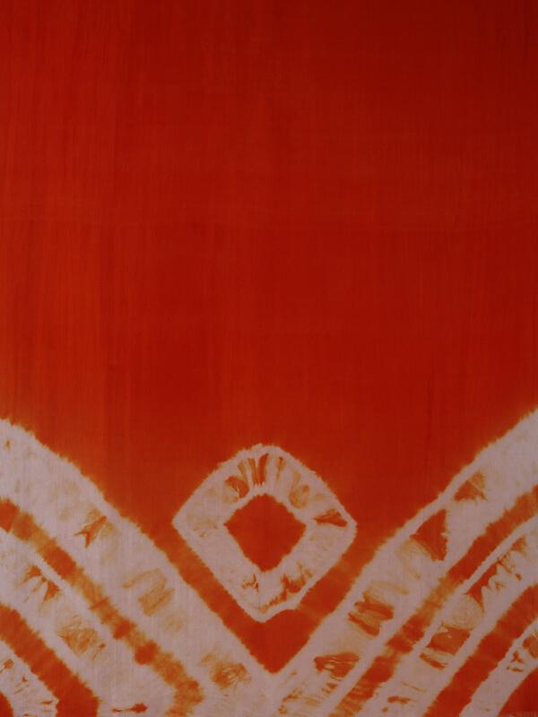 zijden sjaal oranje detail