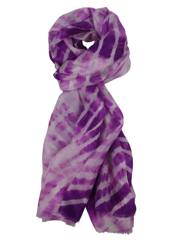 zijde sjaal paars
