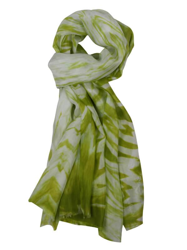 zijden sjaal licht groen