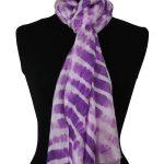 zijden sjaal paars buste