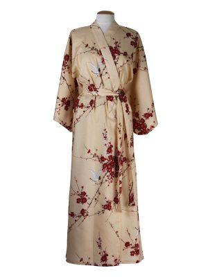 Japanse kimono kersen bloesem katoen beige