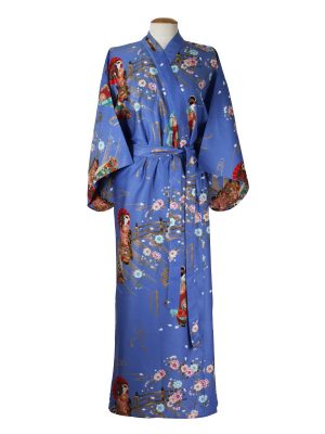 Japanse kimono maiko katoen paars