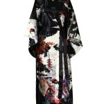 Japanse kimono maiko polyester zwart
