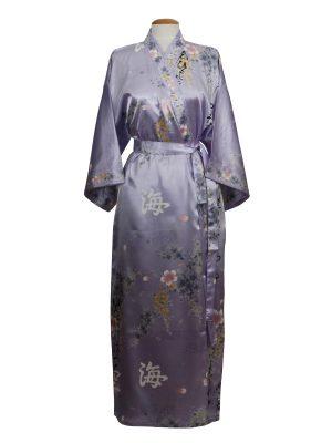 Japanse kimono bloem polyester paars