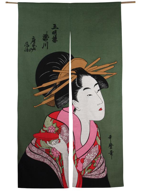 Japans deurgordijn (originele Noren) Sakazuki