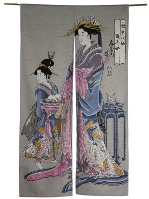 Japans deurgordijn (originele Noren) Oiran