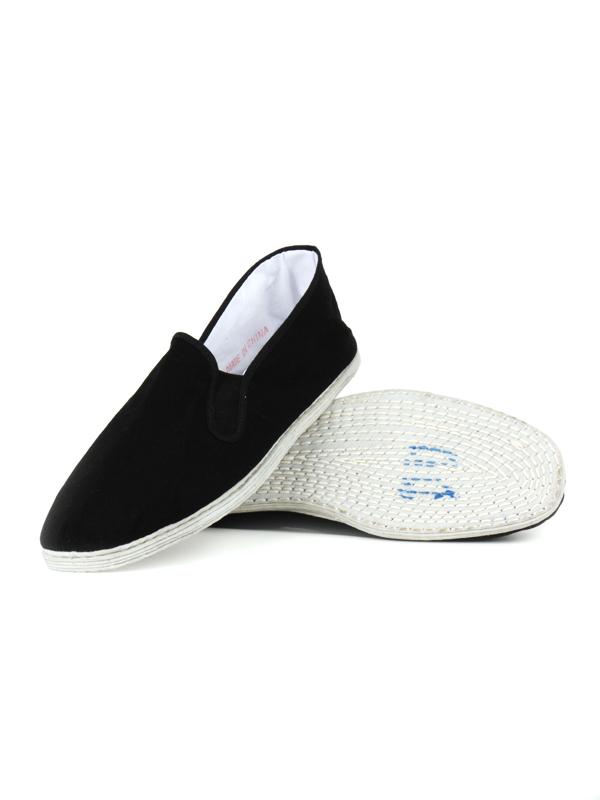 Tai Chi schoenen witte touw zool