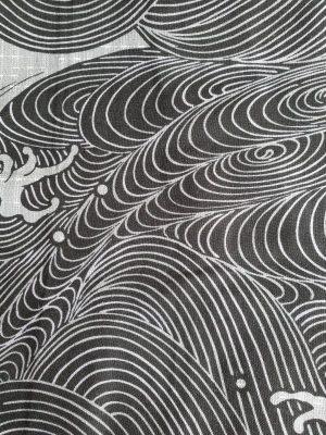 Yukata wave katoen detail