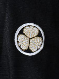 Japanse kimono crest detail