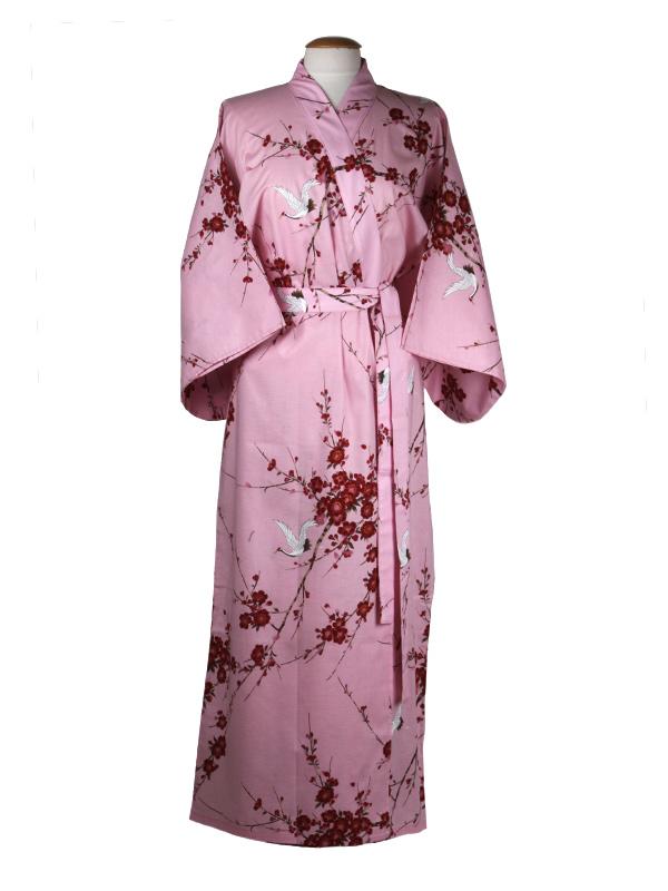 Japanse kimono kersen bloesem katoen roze