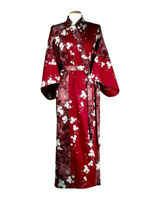 Japanse kimono kersenbloesem katoen rood