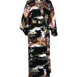 Japanse kimono ukiyoe katoen zwart