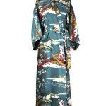 Japanse kimono ukiyoe katoen blauw
