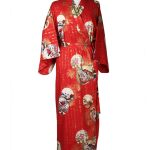 Japanse kimono prinses rood