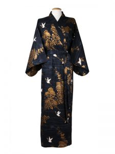Japanse kimono kraanvogel blauw
