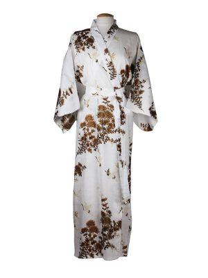 Japanse kimono kraanvogel wit