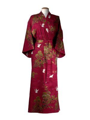 Japanse kimono kraanvogel rood