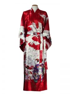 Japanse kimono maiko polyester rood