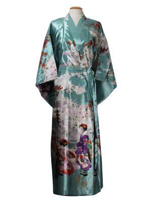 Japanse kimono maiko polyester groen
