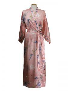 Japanse kimono bloem polyester roze
