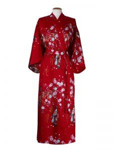 Japanse kimono maiko katoen rood