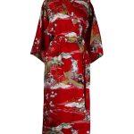 Japanse kimono ukiyoe katoen rood