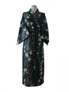 Japanse kimono kersenbloesem katoen groen