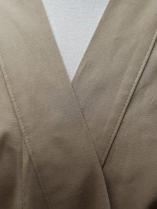 Originele Japanse Yukata beige katoen detail