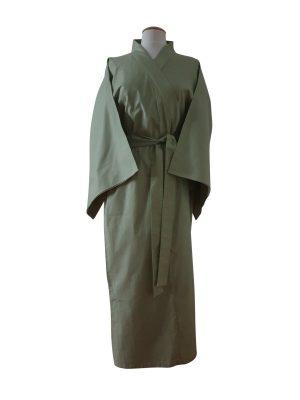 Originele Japanse Yukata olijfgroen katoen