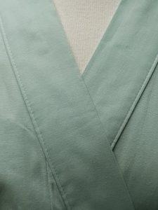 Originele Japanse Yukata lichtgroen katoen detail
