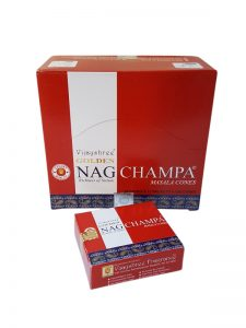 Wierookpuntjes Golden Nag Champa per 12