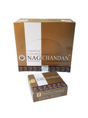 Wierookpuntjes Golden Nag Chandan per 12