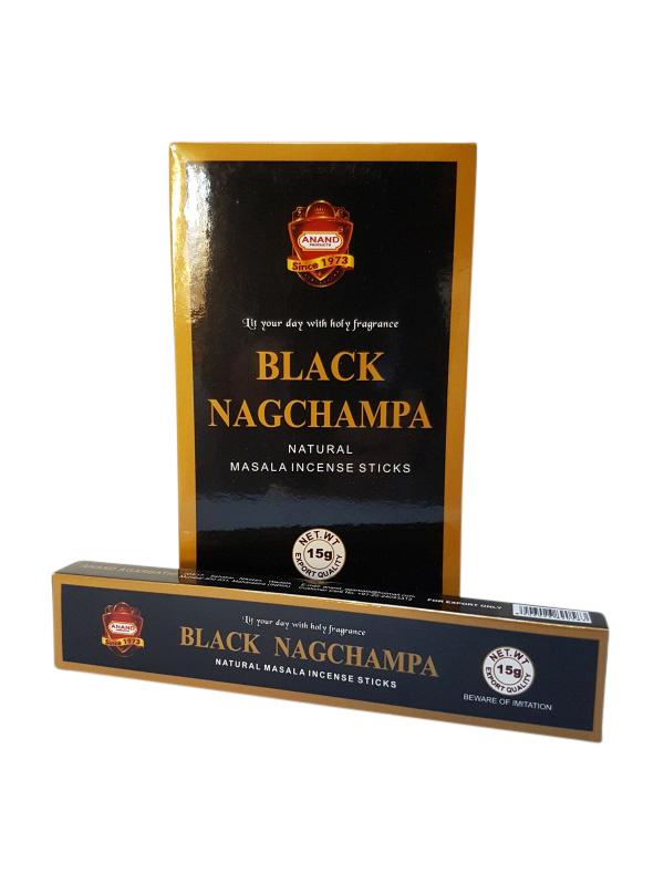 Wierookstokjes Black Nag Champa per 12