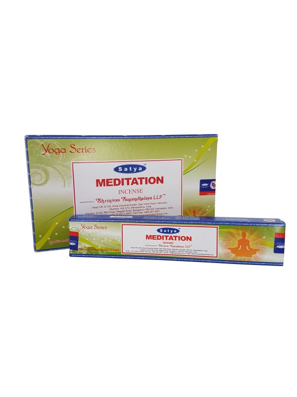 Wierookstokjes Satya Yoga Meditation per 12