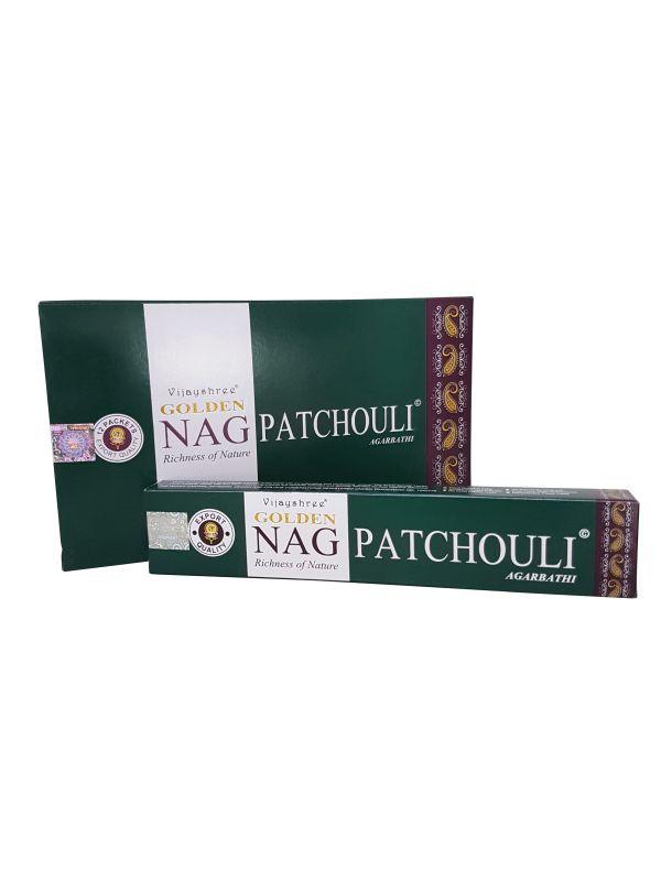 Wierookstokjes Golden Nag Patchouli per 12