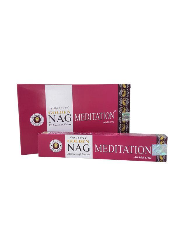 Wierookstokjes Golden Nag Meditation per 12